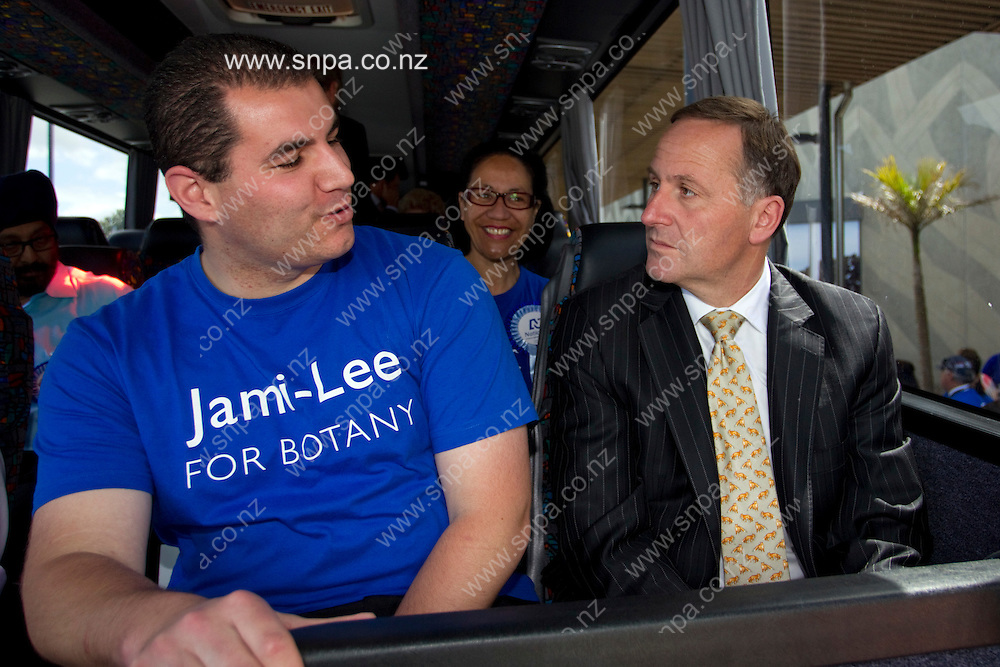 Jami-Lee Ross and Sir John Key talking