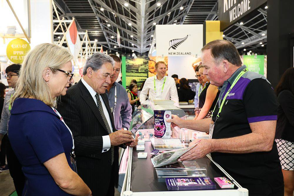 The Rt. Hon. Winston Peters attends a food and hospitality trade expo in Singapore.