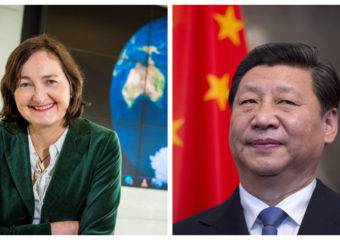 Professor Anne-Marie Brady and Xi Jinping