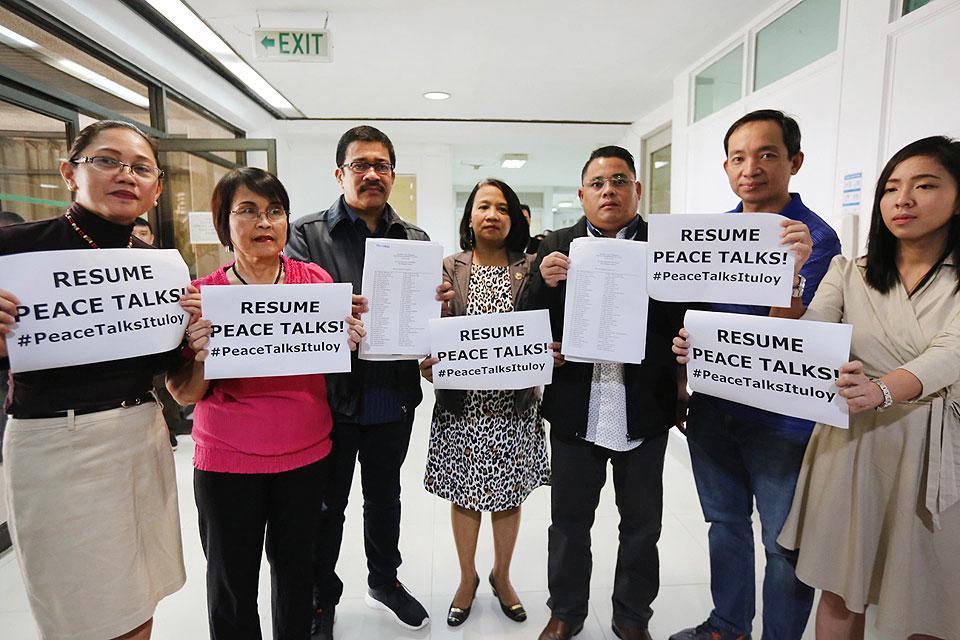 Members of the Makabayan bloc