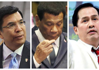 Eduardo Manalo, Rodrigo Duterte and Apollo Quiboloy montage