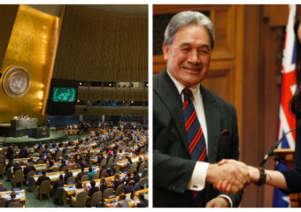 Jacinda Ardern and Winston Peters United Nations