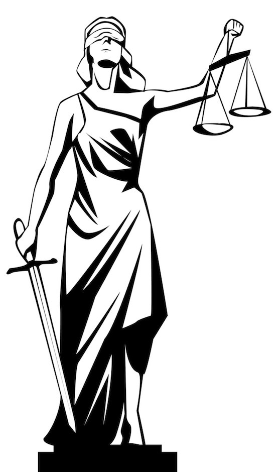 A sketch of Lady Justice