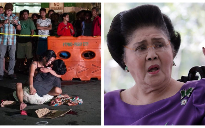 Drug war casualty and Imelda Marcos