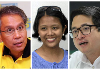 Mar Roxas, Nancy Binay and Bam Aquino collage