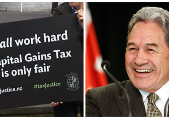 Winston Peters and capital gains tax