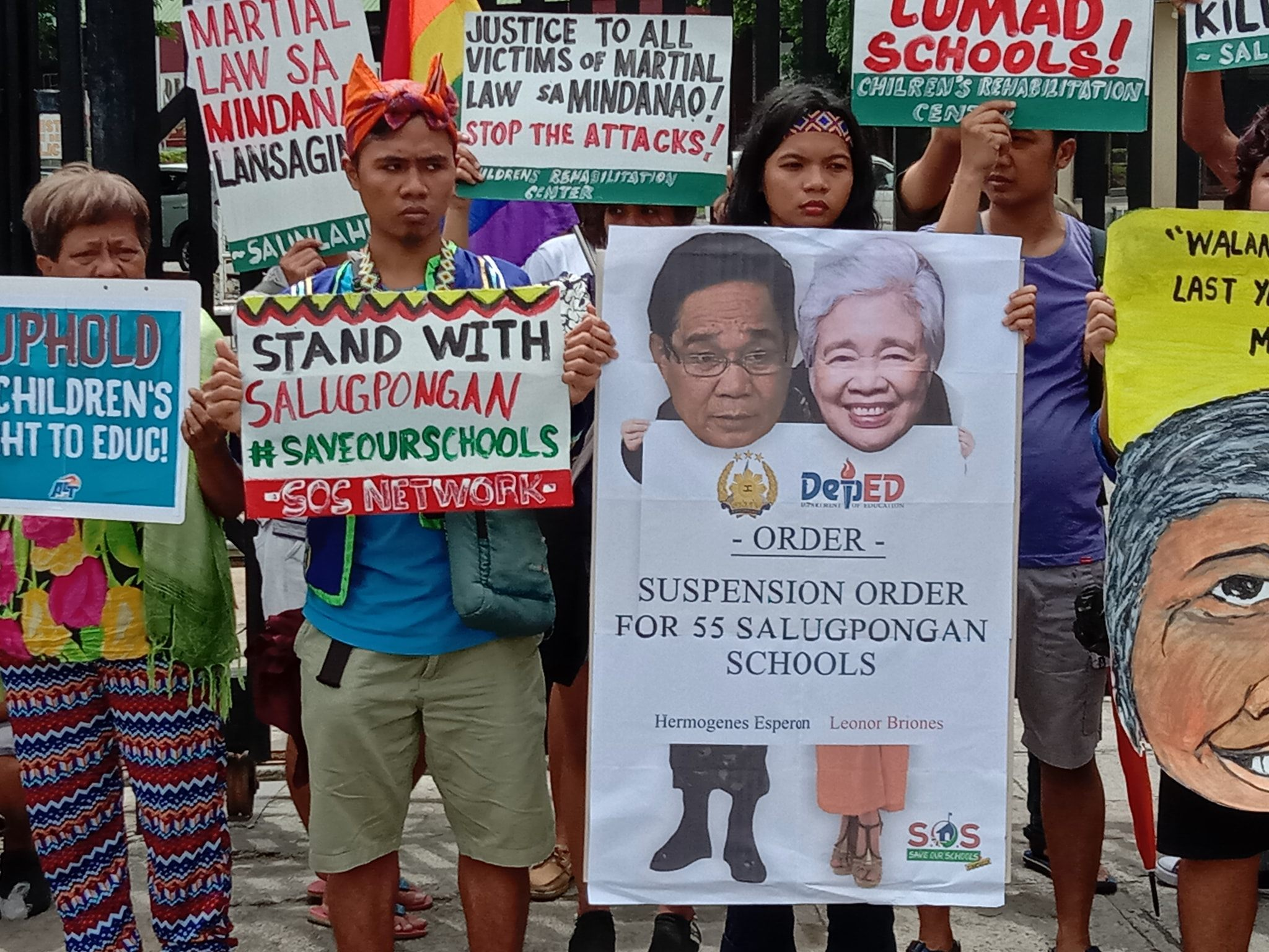 Save our Schools Network protest