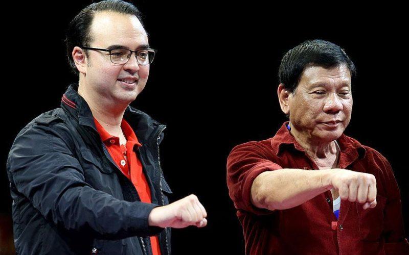Alan Peter Cayetano and Rodrigo Duterte