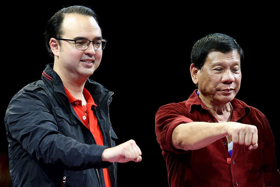 Alan Peter Cayetano and Rodrigo Duterte