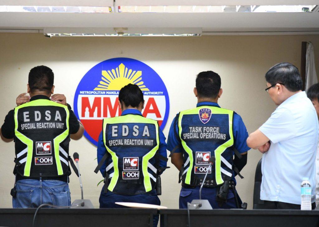 MMDA Chairman Bong Nebrija inspects his traffic enforcers