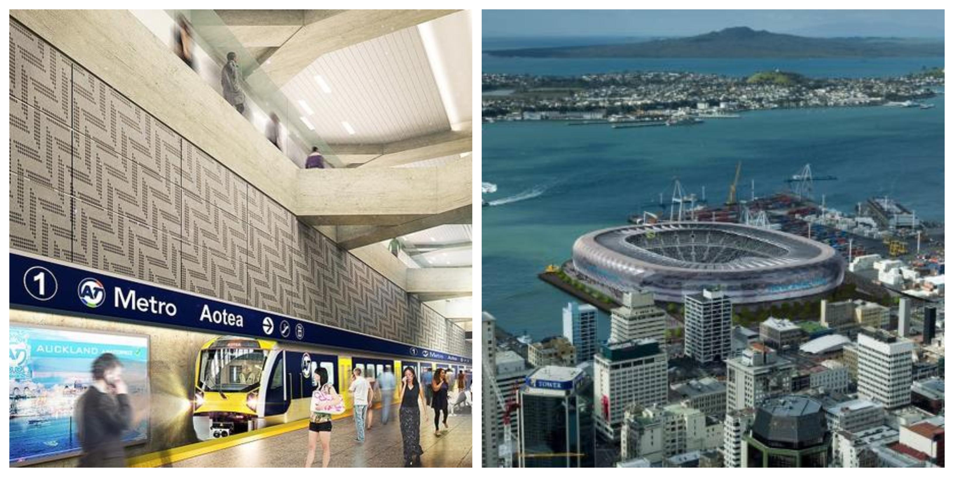 Auckland City Rail Link and Bledisloe Stadium
