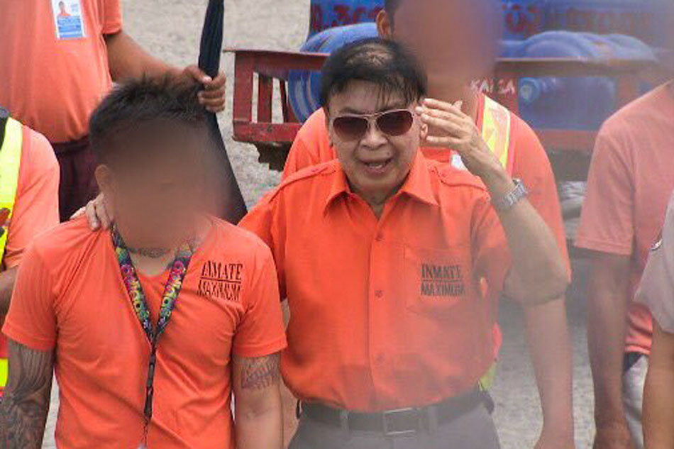 Former Calauan, Laguna mayor Antonio Sanchez is photographed inside the New Bilibid maximum security prison.
