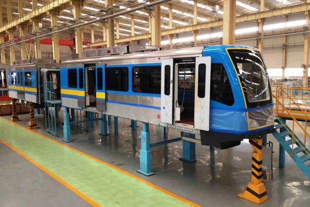 Dalian train coaches