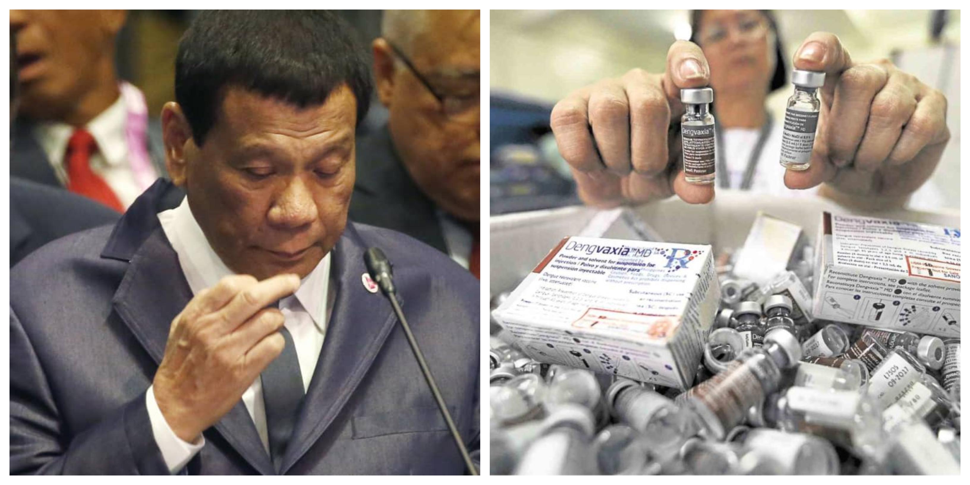 Dengvaxia vaccine Rodrigo Duterte collage