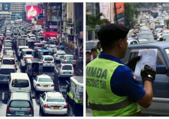 Metro Manila Traffic and MMDA enforcer collage
