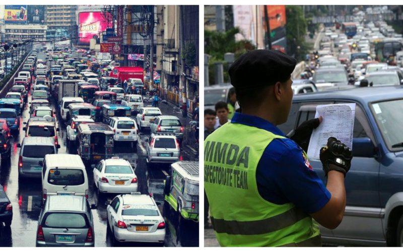 Metro Manila Traffic and MMDA enforcer collage