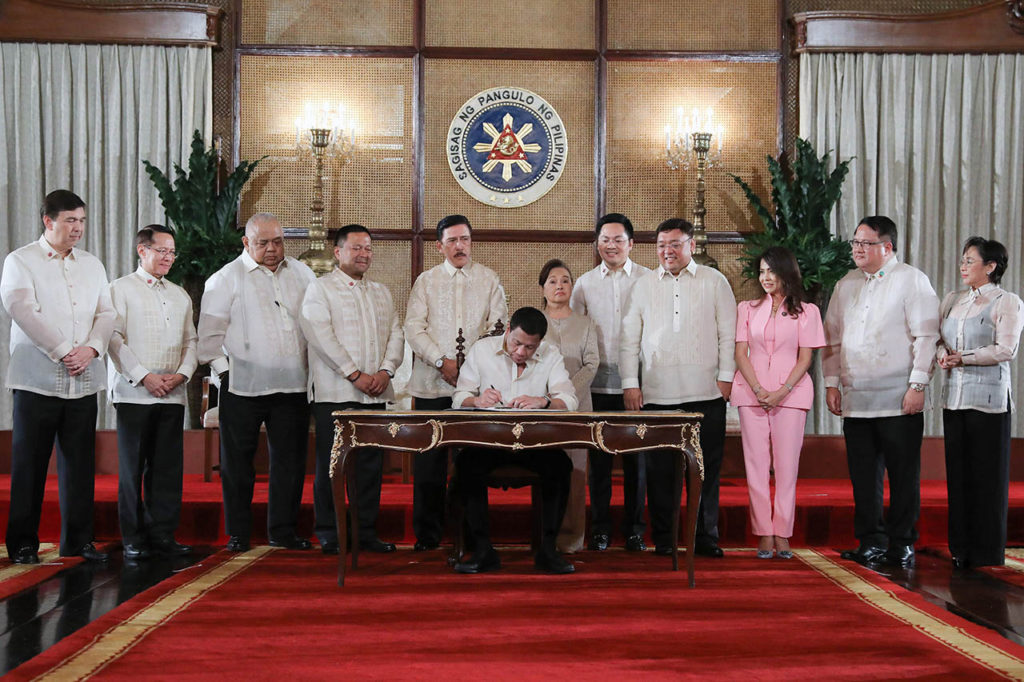 Signing of Universal Healthcare Act Philippines