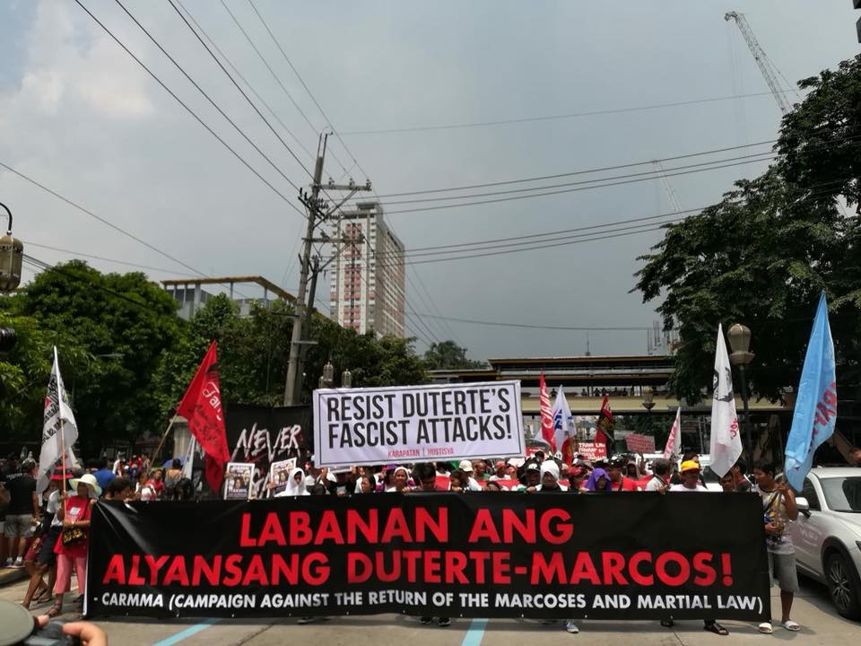 CARMMA protest versus Martial Law and Marcoses