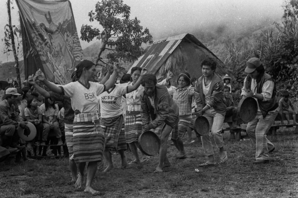 A Cordillera tribe performs a customary dance