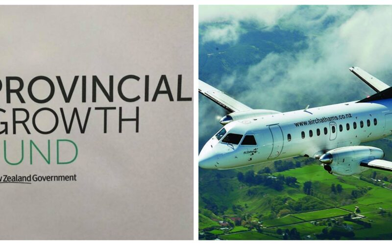 Collage of Provincial Growth Fund Air Chathams