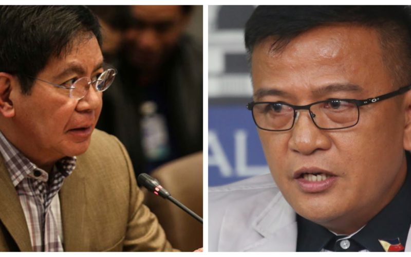 Collage of Senator Panfilo Ping Lacson and Bureau of Corrections director Nicanor Faeldon