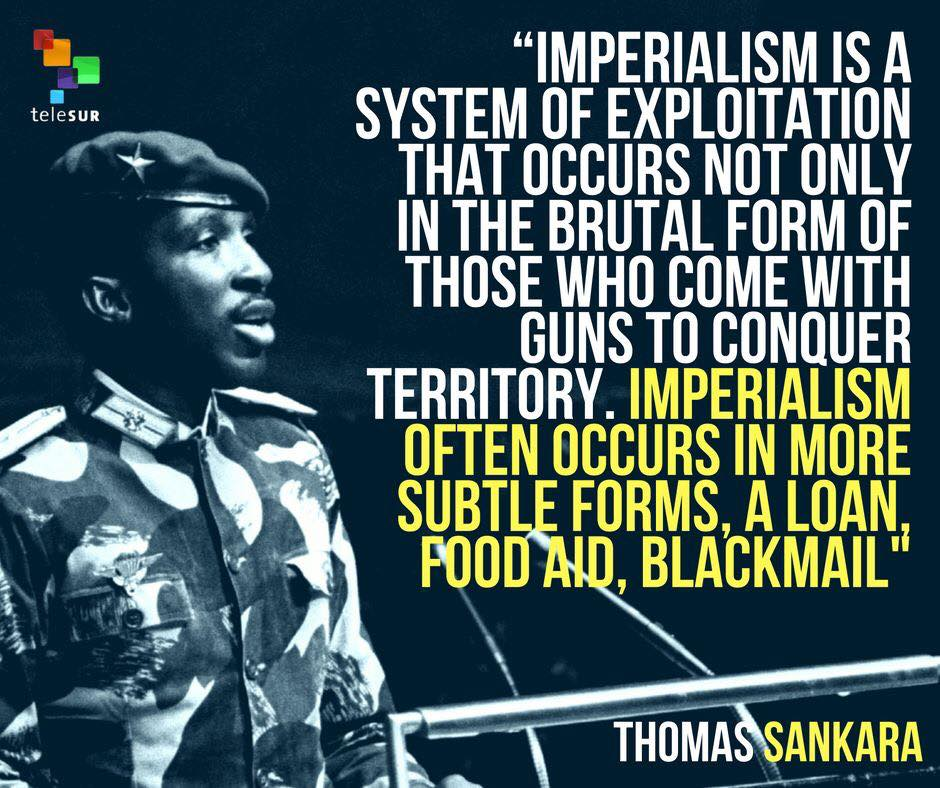Thomas Sankara quote about imperialism