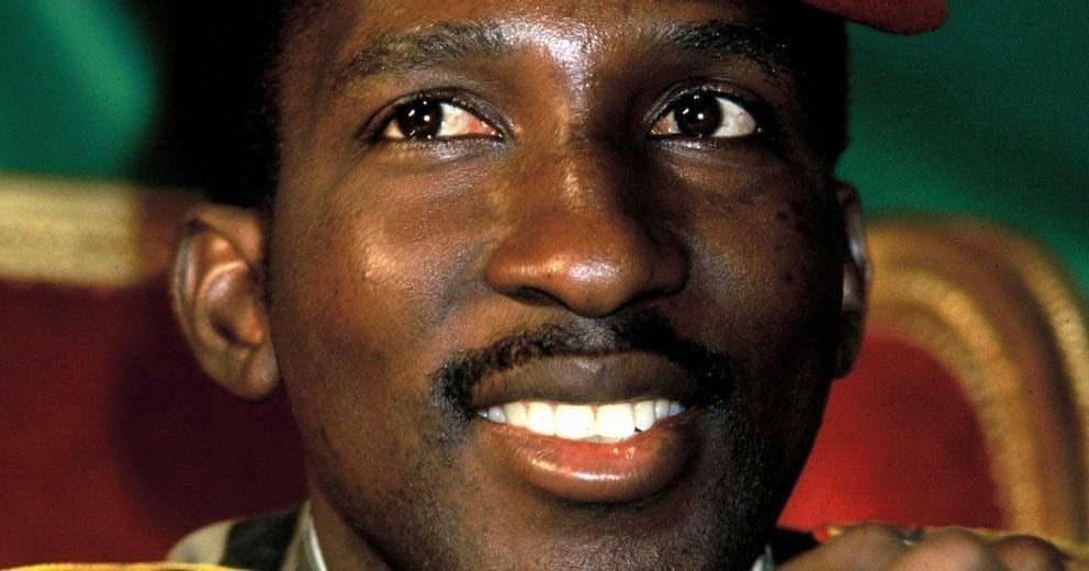Thomas Sankara close-up image