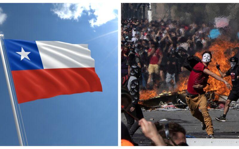Chile Crisis collage photo riots