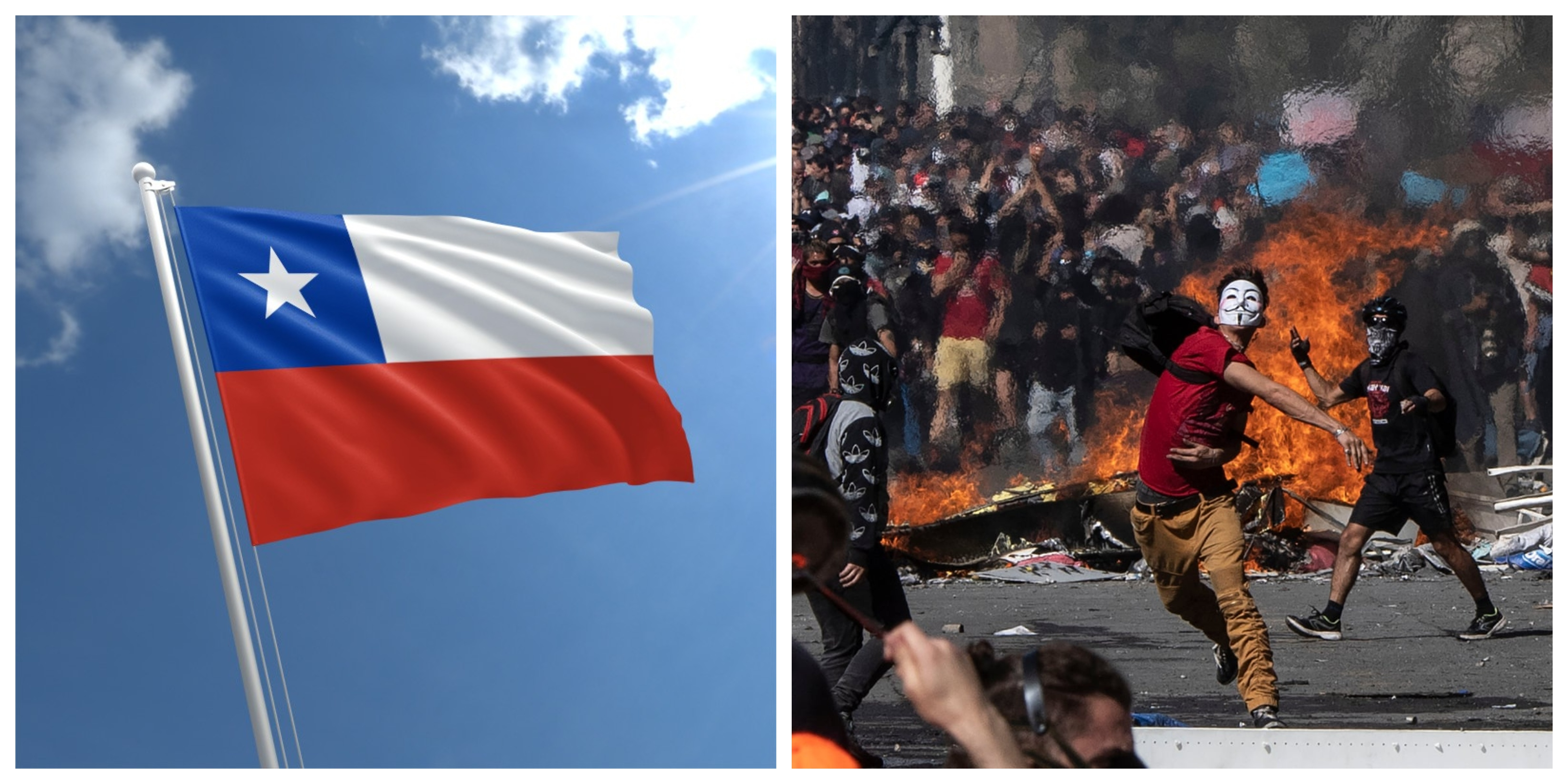 Chile Crisis collage photo riots