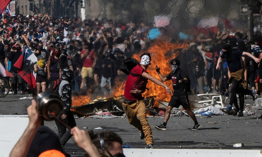 2019 Chile protests Pedro Ugarte AFP Getty Images