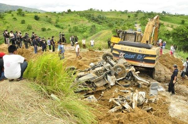 The excavator used in the Maguindanao (or Ampatuan) Massacre was the property of the Province of Maguindanao, and was used to dig mass graves for the victims.