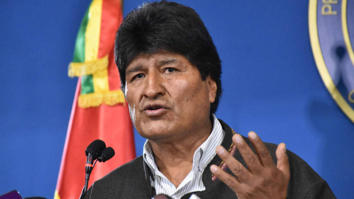Bolivia's elected President Evo Morales. [Photo by AFP/Getty Images]