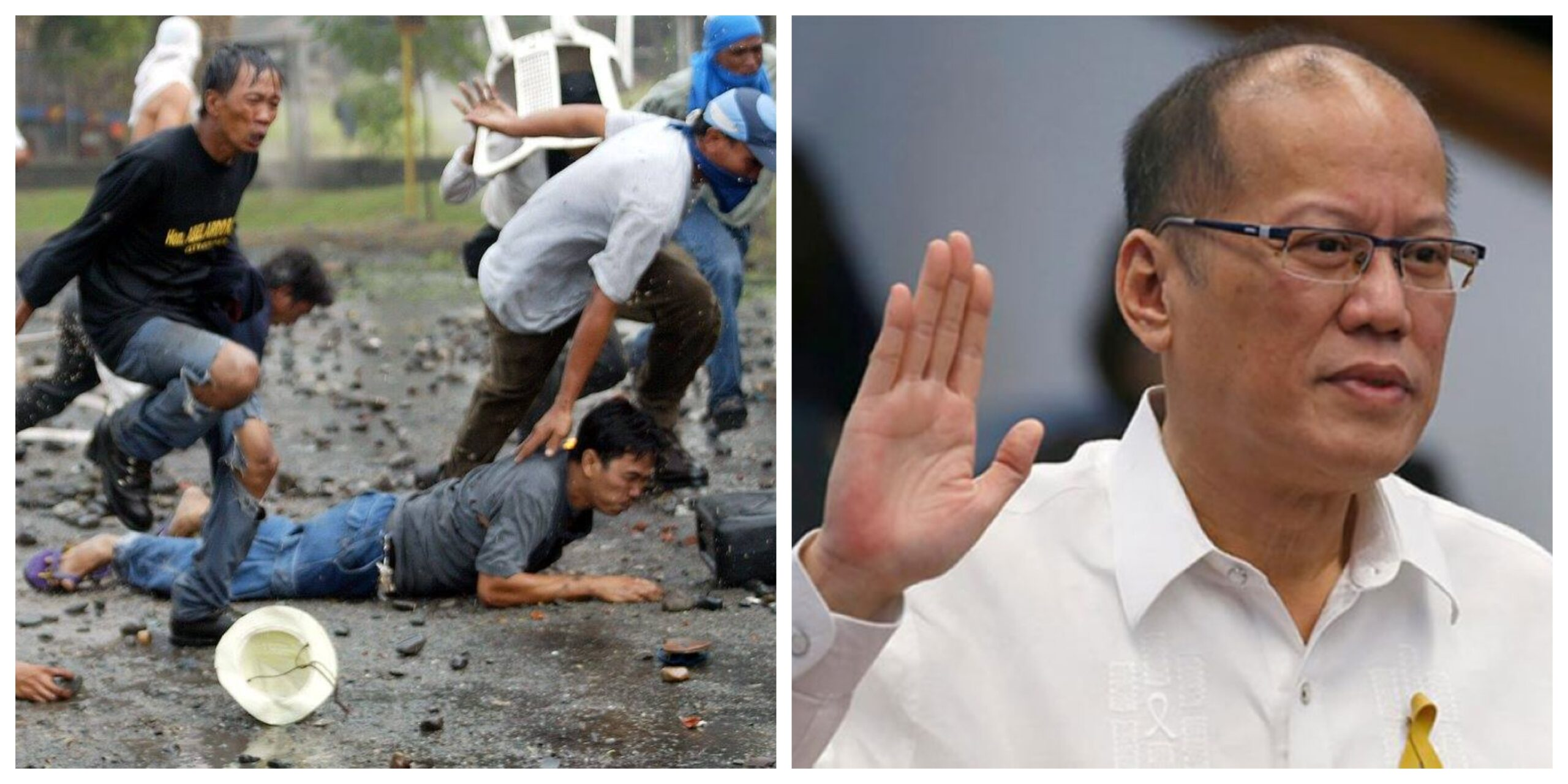 Hacienda Luisita Massacre Benigno Noynoy Aquino III photo collage