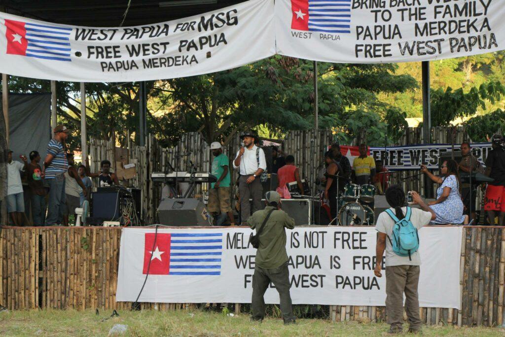 West Papua protest 2015 Honiara Solomon Islands