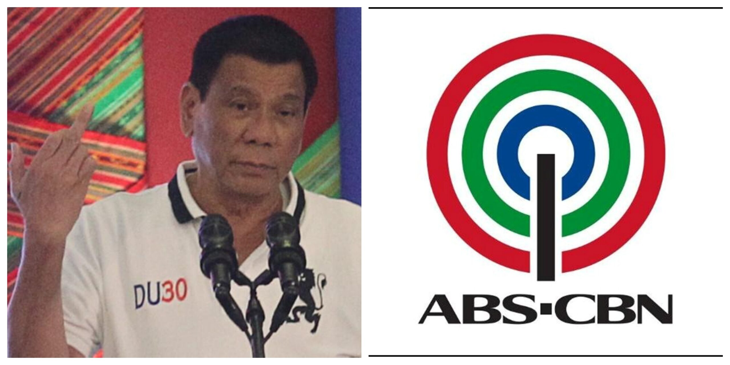 Rodrigo Duterte ABS-CBN collage