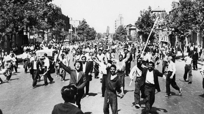 Pro-Monarchy Demonstrators in Tehran, August 1953