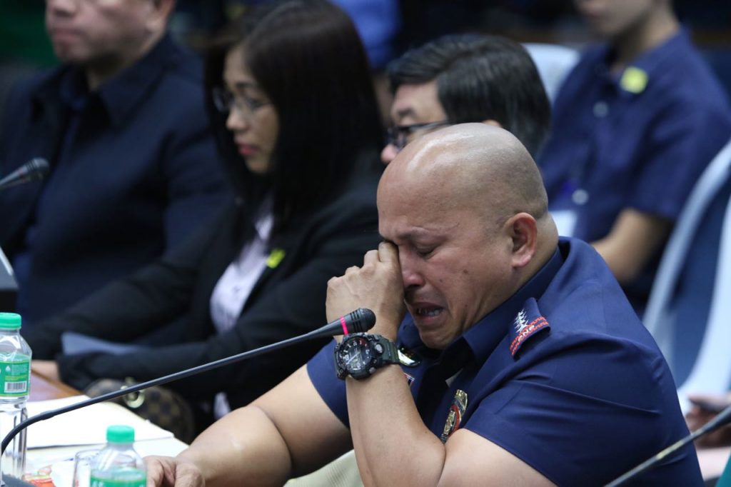 "Ronald ""Bato"" dela Rosa crying Senate hearing"