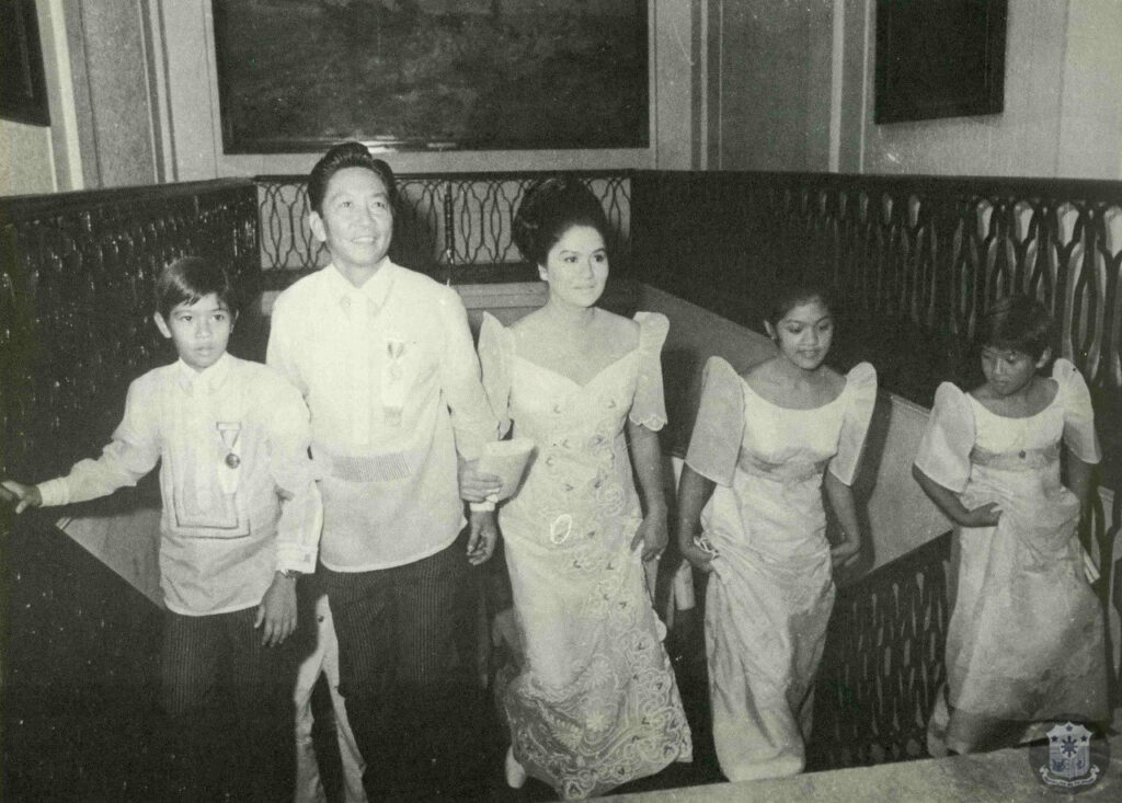 President Ferdinand Marcos and family