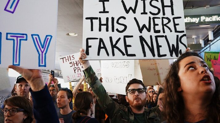 Fake news protest
