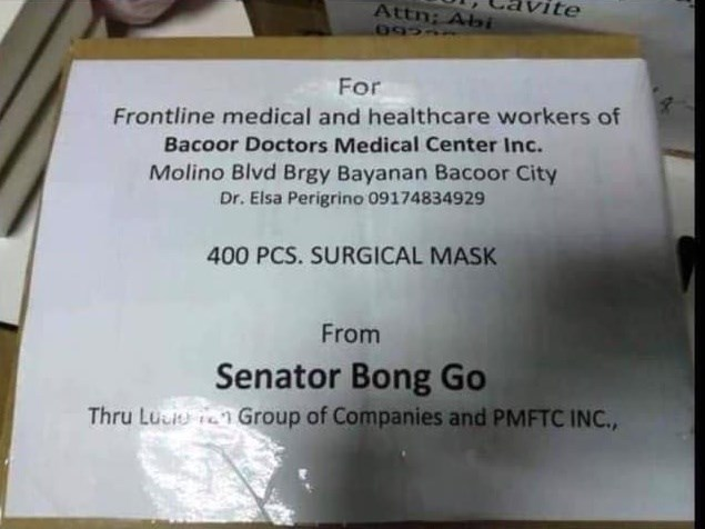 Bong Go relief packs epal