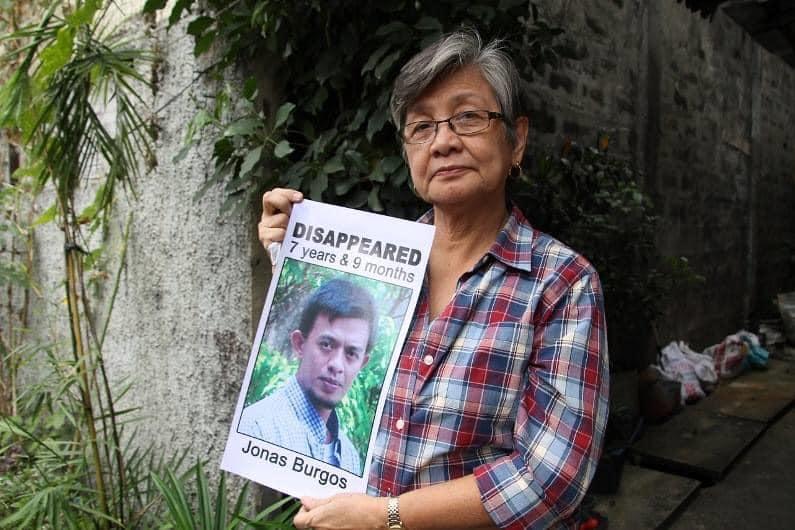 Editha Burgos Jonas Burgos Rodrigo Duterte