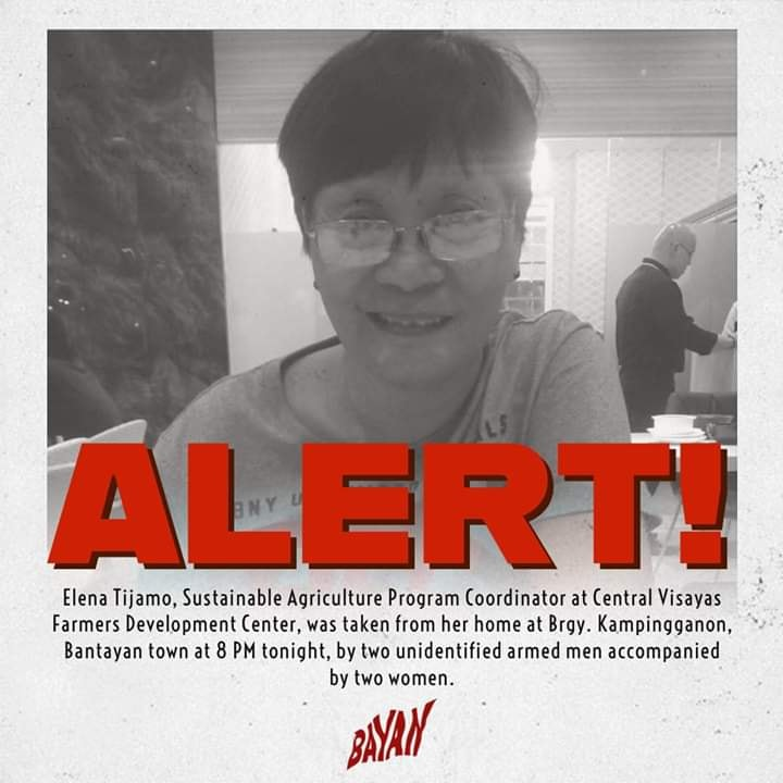 Elena Tijamo missing Philippines desaparecidos