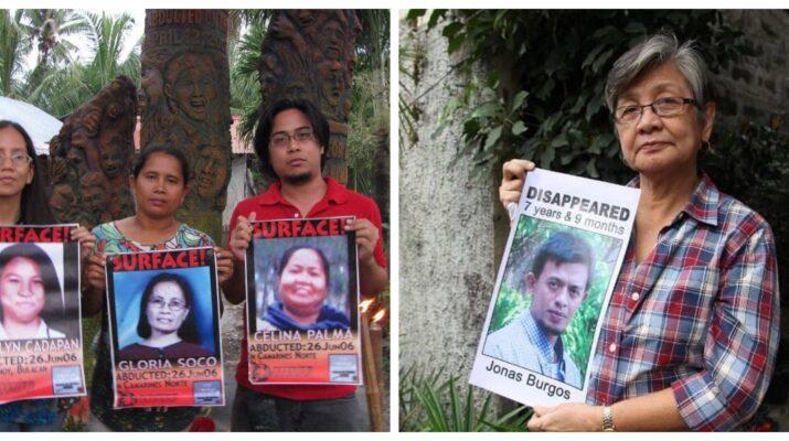 Jonas Burgos Sheryl Cadapan Desparecidos Philippines