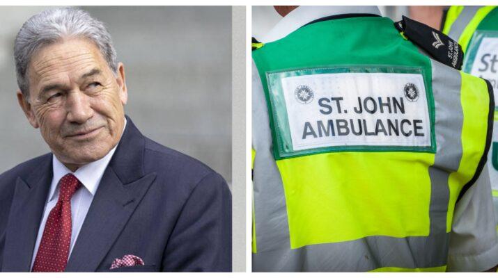 Winston Peters St John ambulance service