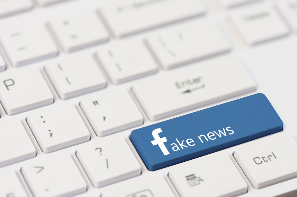 Facebook fake news stock image Shutterstock