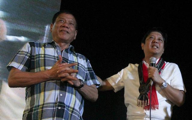Rodrigo Duterte Philippines Ferdinand Marcos Bongbong Marcos