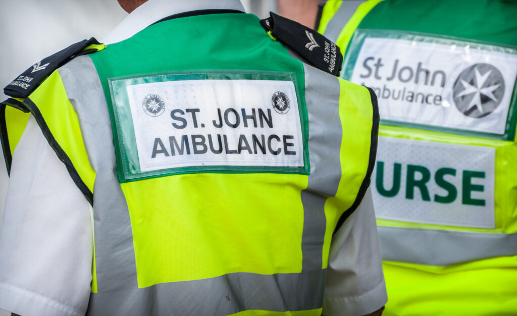 St John Ambulance nurses stock photo