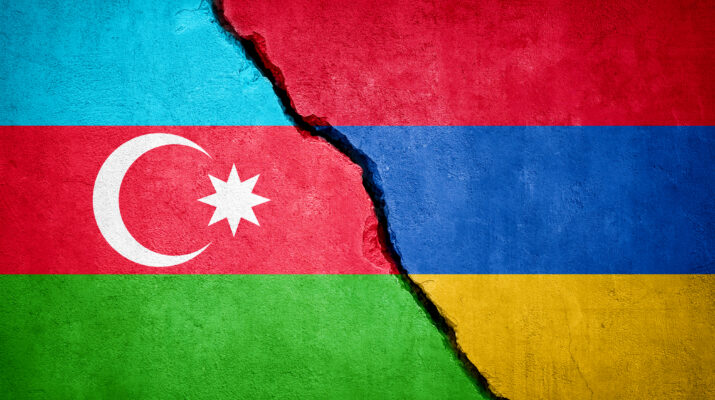 Azerbaijan-Armenia conflict stock photo