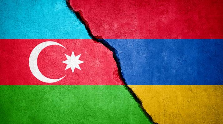 Azerbaijan-Armenia conflict stock photo