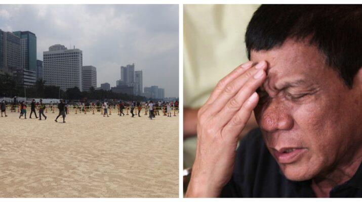 President Rodrigo Roa Duterte White Sand Beach Manila Bay dolomite
